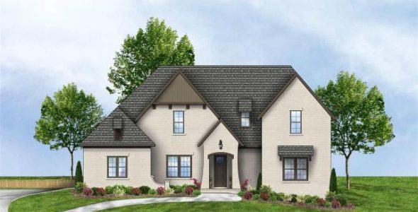 504 Riverwoods Landing with The Astonia plan rendering by Prominence Homes
