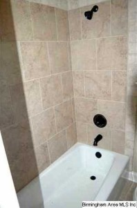 Cast Iron Tub Ceramic Tile Flooring And Shower Surrounds