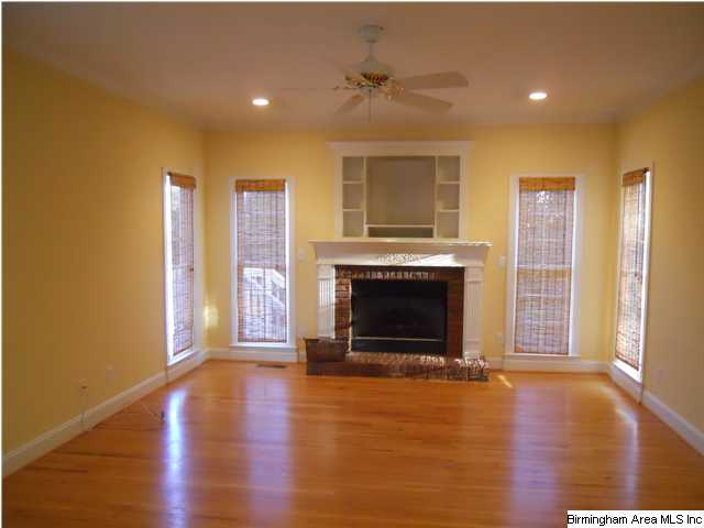 Family room is awesome Huge area with windows and fireplace with