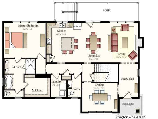 If you like to entertain this is the plan for you very open living kitchen area and a formal Dining room plan