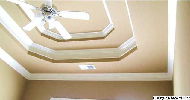 Notice the detailed double tray ceiling and all the crown molding on the master  bedroom ceiling. Notice the detailed double tray ceiling and all the crown molding