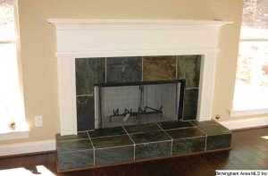 The Beautiful Woodburning Fireplace Has Gas Starter And Slate Hearth And Profile