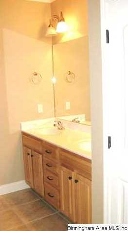 Wow The Master Bath Has A Linen Closet Also Featured Are Raised Vanity Double Sinks And