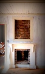fireplace and chimney