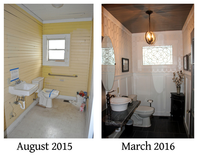 helena bathroom before and after side by side