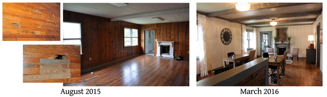 helena main room side by side before and after